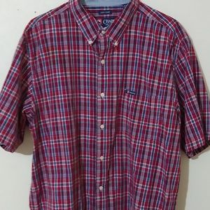 Men's chap checkered button-up shirt
